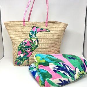 Vera Bradley Seashore Tote & Beach Towel Bundle